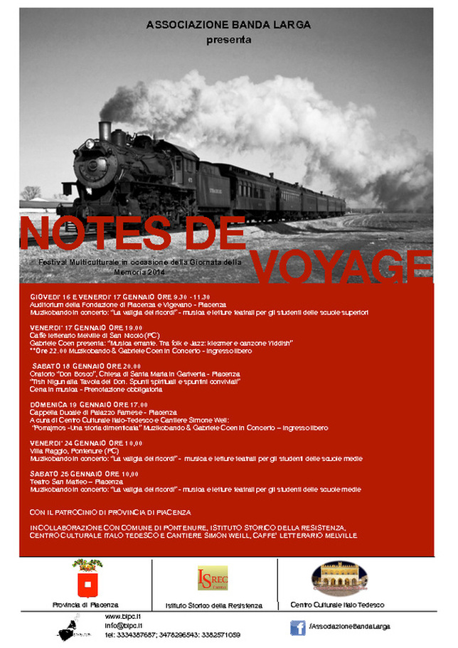 notes de voyage locandina 2014